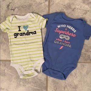 Grandma & Grandpa baby onesies bundle